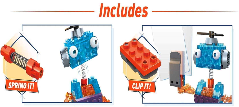 400 Pieces Building Set for Kids 5-9 Mattel FWP29 Mega Construx Inventions Wheels Pack