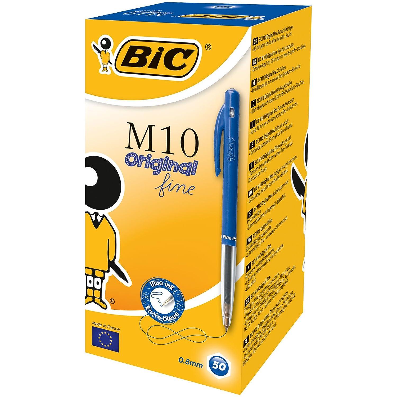 Bic negro 1199190129 - Bolígrafo de bola retráctil negro Bic (50 unidades), multicolor f675f4