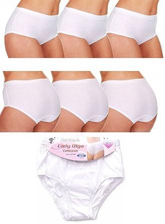 25c10be4fb21 Womens Lady Olga 3 PacK Full Briefs 100% Cotton Underwear (46-48 ...