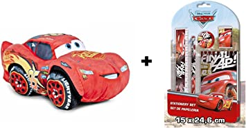 crs Cars 3 - Pack peluche Rayo McQueen 25 cm (Famosa 760015270) + Blister papeleria: Amazon.es: Juguetes y juegos