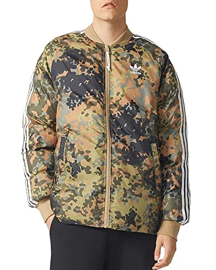 4a53b795e37b adidas Originals Men s Pharrell Williams hu Hiking Reversible Camo SST  Jacket (L