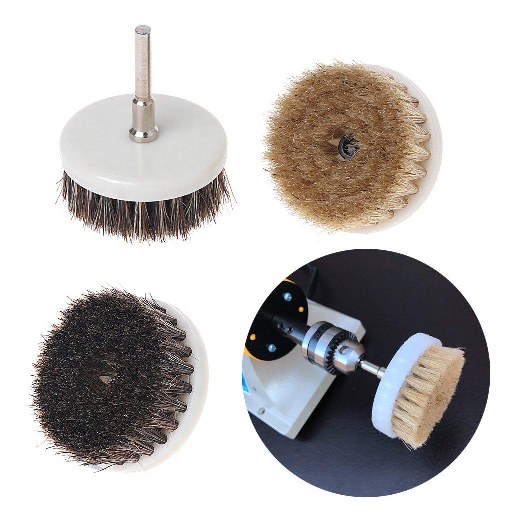 BIlinli Spazzola di Pulizia per Uso intensivo con Trapano da 60 mm con Utensili a setole rigide
