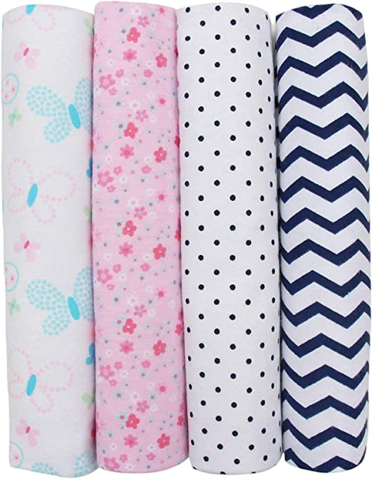 "NEW Baby Swaddle Blanket 100/% Cotton 40""X40"" Sleeping Swaddle Muslin Wrap NWT"
