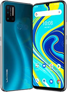 """UMIDIGI A7 Pro Unlocked Cell Phones(4GB+64GB) 6.3"""" FHD+ Full Screen, 4150mAh High Capacity Battery Smartphone with 16MP AI Quad Camera, Android 10 and Dual 4G Volte(Ocean Blue)."""