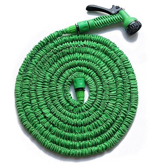 HENGMEI 45m Flexibler Gartenschlauch Wasserschlauch FlexiSchlauch Dehnbarer Schlauch Garten Handbrause mit 7 Multifunktions S