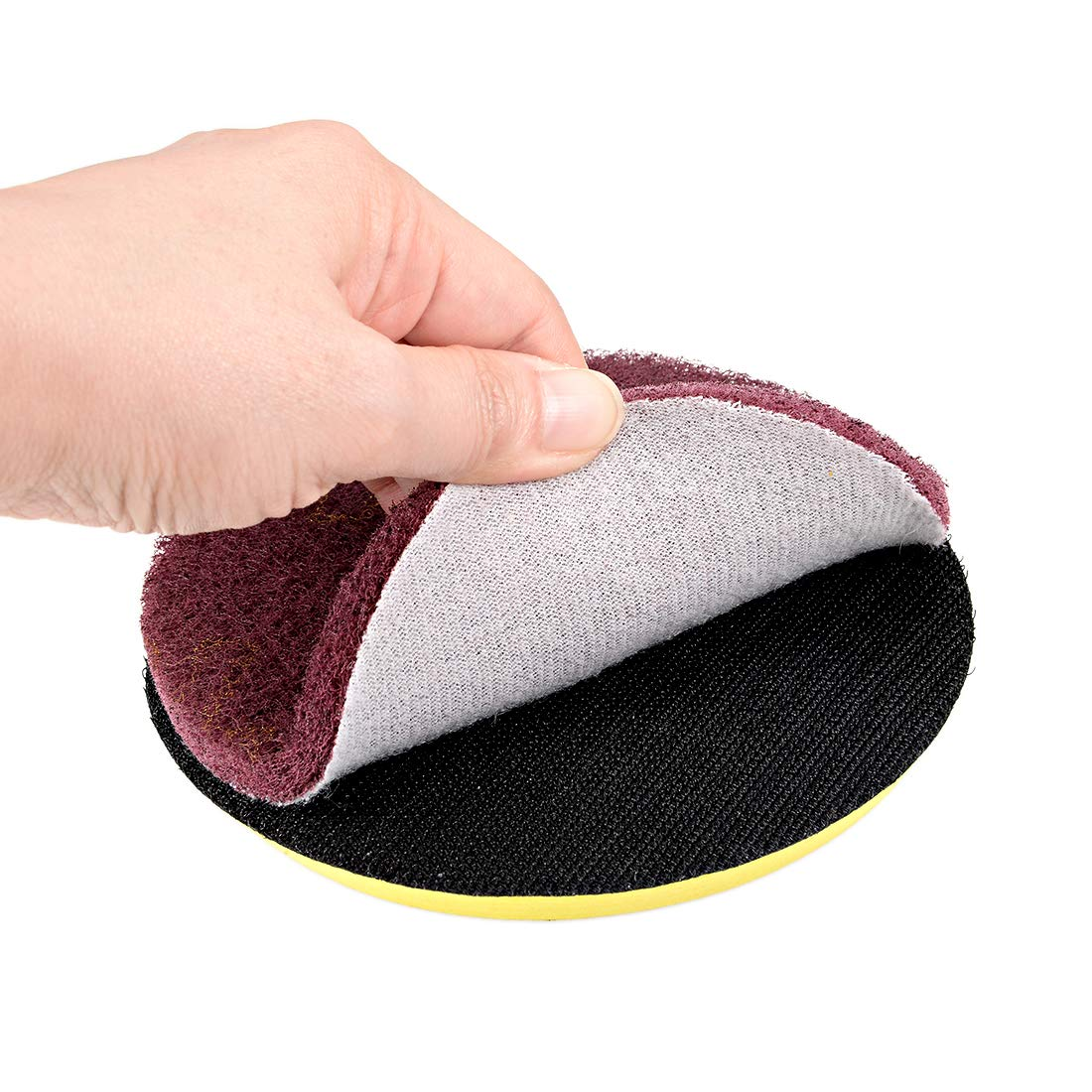 sourcing map 5 Inch Scrubber Scouring Pads Drill Scuffing Disc Hoop and Loop Surface Conditioning Disc 2pcs
