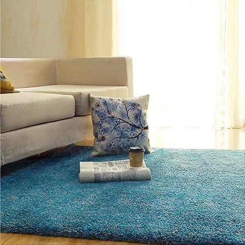 CBOKE Deluxe Indoor Modern Faux Sheepskin Shaggy Rugs Anti-Skid Shag Area Rug Dining Room Home Bedroom Carpet Floor Mat Kids Play Rug 31.4 x 47.2 Inch