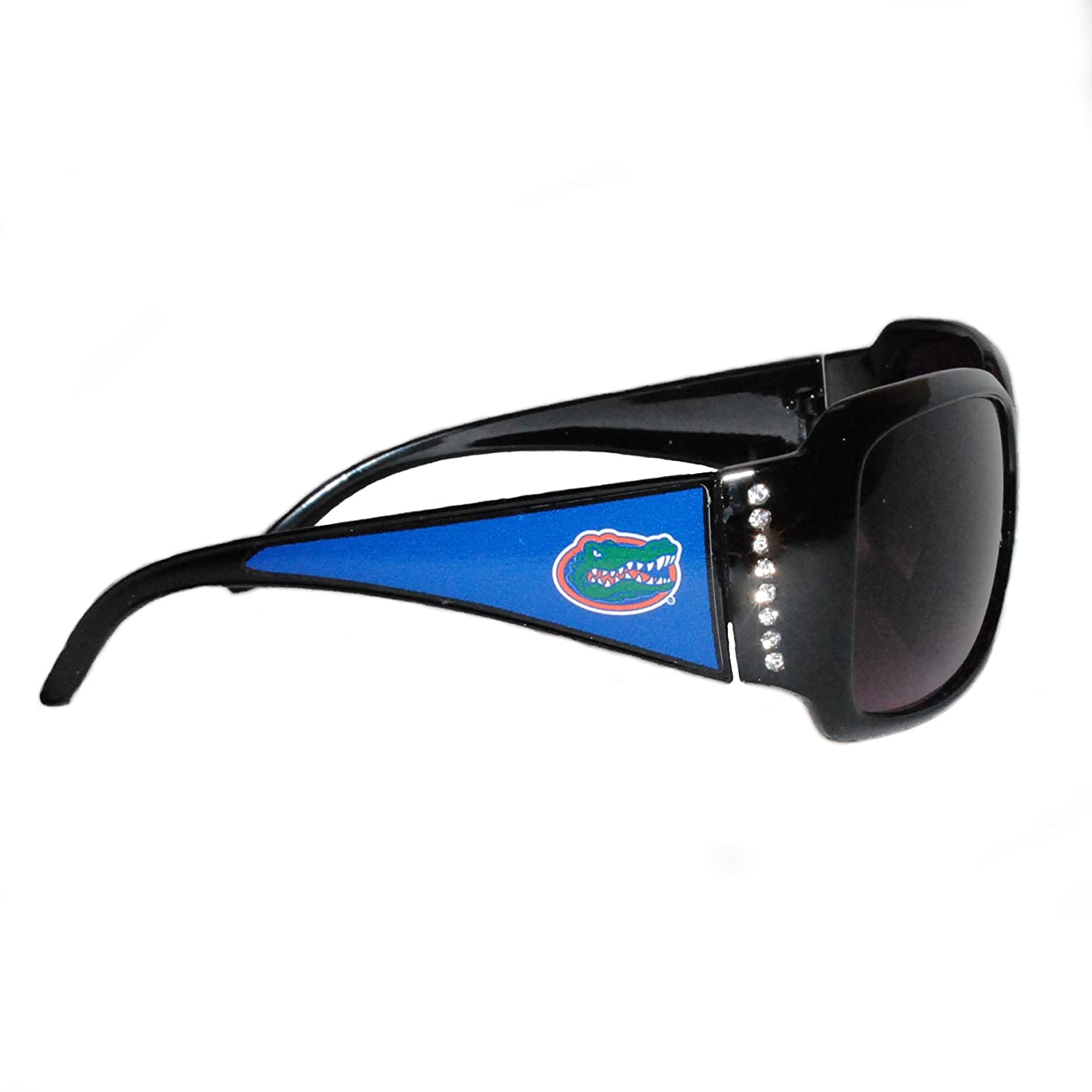 Sports Team Accessories Florida Gators Black Sunglasses with Logo and Crystal Clear Rhinestones for Ladies