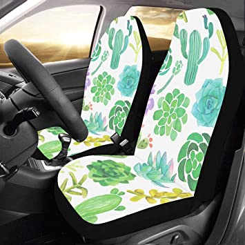 Interior Accessories Beautiful Flowers Car Seat Covers Protectors Fit for Most Car Truck SUV Or Van Full Protection for Your Fabric and Leather Seat