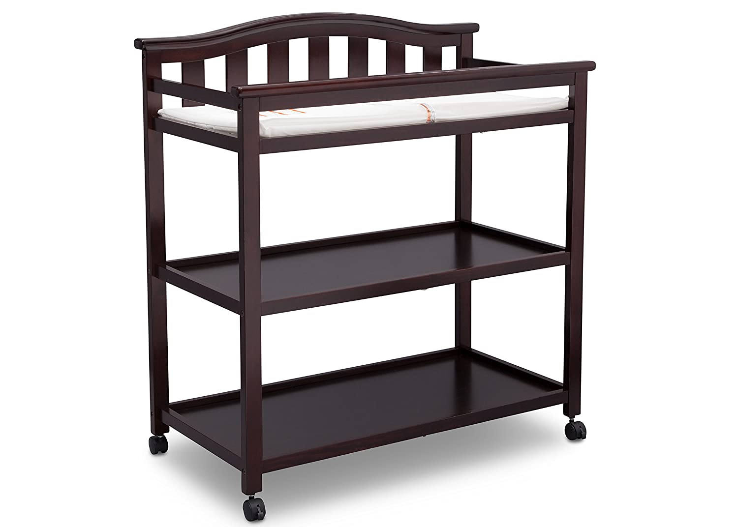 Delta Children Bell Top Changing Table with Casters, Dark Chocolate 540242-207