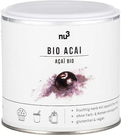 nu3 Acai Orgánico en Polvo–Bayas de açai molidas (65g) – Súper alimento