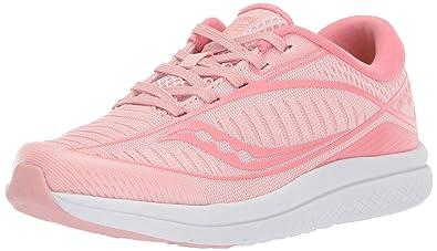 77d5ba1bb4 Amazon.com | Saucony Girls' Kinvara 10 Sneaker, Rose, 060 Medium US ...