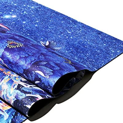 100% Natural & Organic Yoga Mat Nettoyant, Safe 122 * 61cm Soft Sweat Absorbant Non Slip Yoga Pad Pilates Sports,