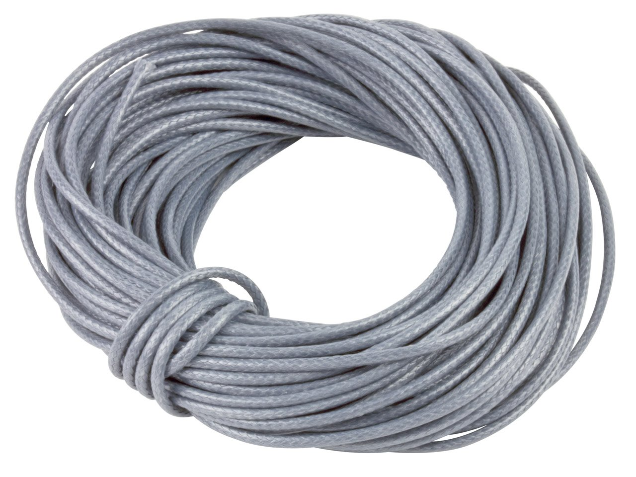 1mm x 10mtr Grey Cotton Cord for shamballa, macramé, kumihimo jewellery Cooksongold