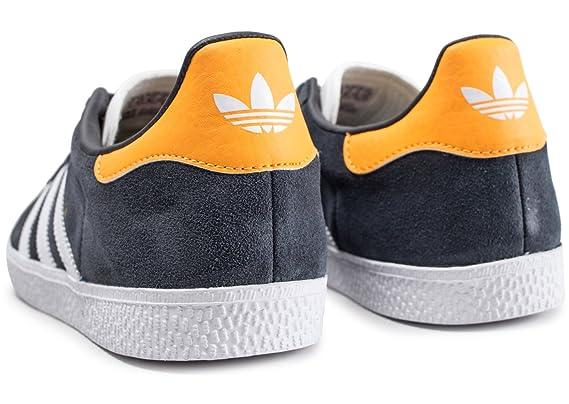 half off a76a7 02aff adidas Gazelle J Chaussures de Fitness Mixte Enfant, Gris (CarbonFtwblaOrorea  000), 36 EU Amazon.fr Sports et Loisirs
