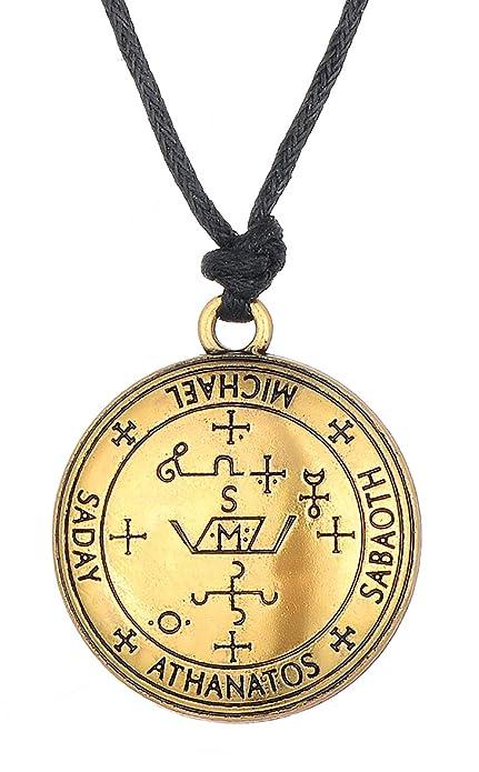 Dawapara Sigil of Archangel Michael Enochian Solomon Talisman Necklaces  Vintage Jewelry for Men