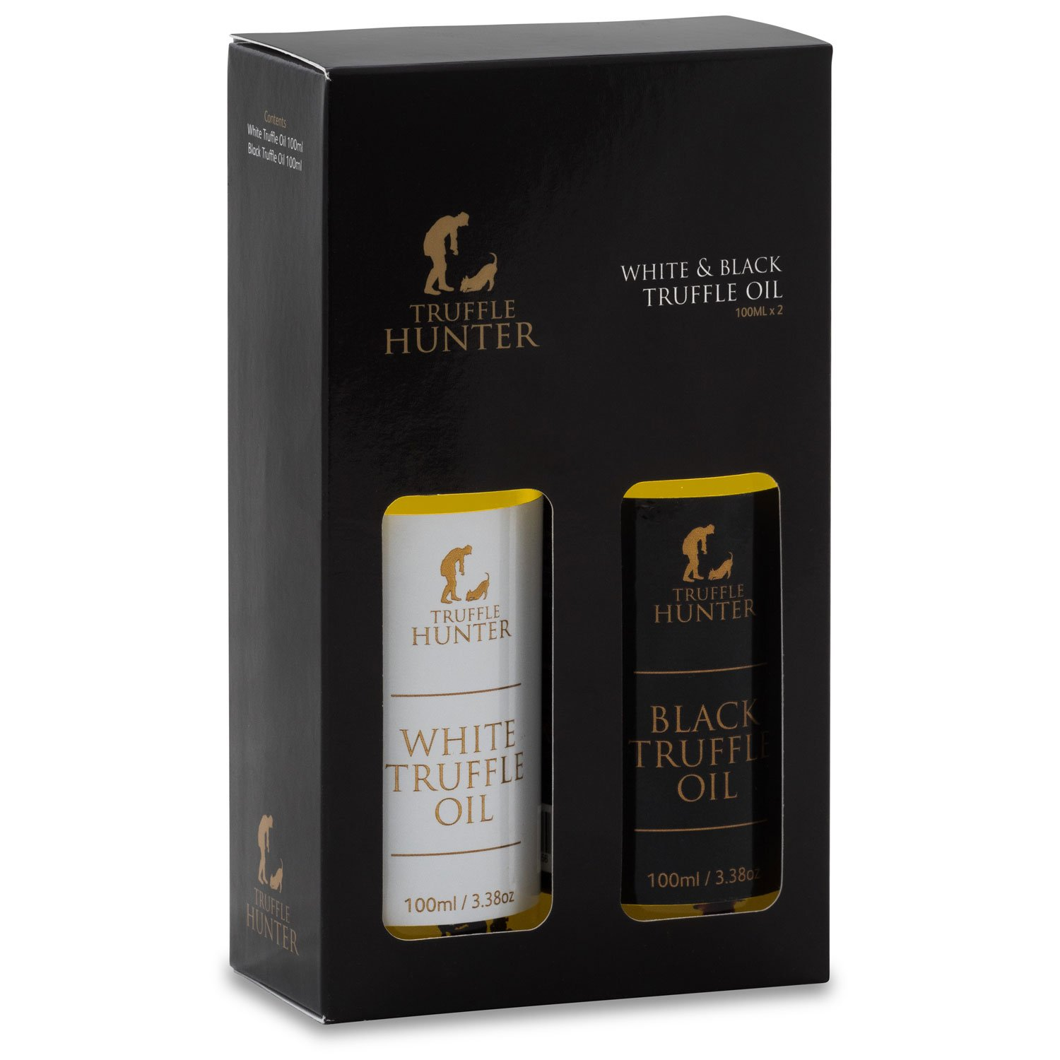 TruffleHunter Black & White Truffle Oil Set (2 x 3.38 Oz)