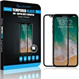 Luvvitt Tempered Glass Screen Protector Case Friendly Compatible for iPhone X - Black