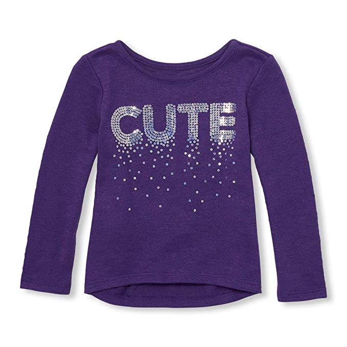 The Childrens Place Toddler Girls Long Sleeve Graphic Shirt