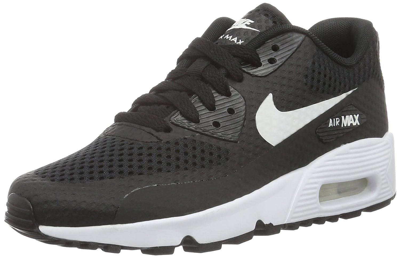 reputable site 0300e ac936 Amazon.com   Nike Youths Air Max 90 Breathe Black White Mesh Trainers 40 EU    Running