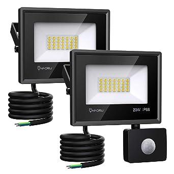 Onforu 2er Pack 20W LED Strahler mit Bewegungsmelder 1800LM | Superhell LED Außenstrahler Fluter Flutlicht 5000K Tageslichtwe