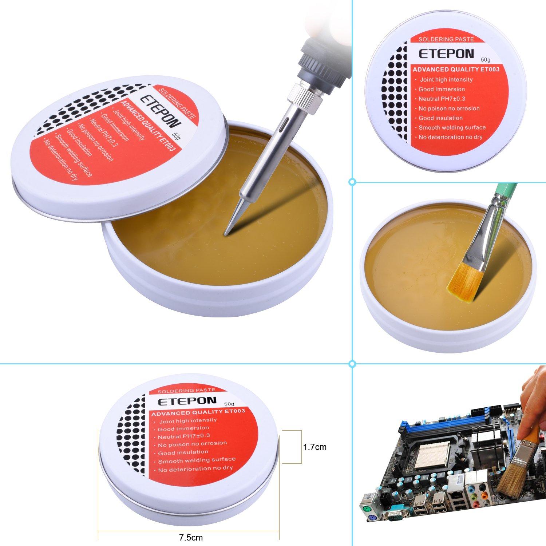 ETEPON Alicate de Corte 170II, Flux 50g, Limpiador de Estaño (ET003): Amazon.es: Bricolaje y herramientas