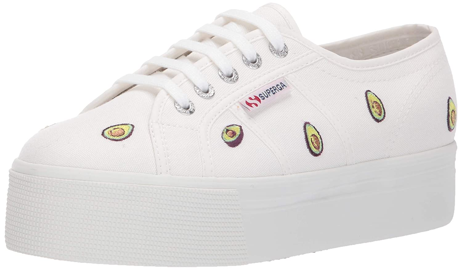White Multi Superga Womens 2790-avocadocotw Sneaker