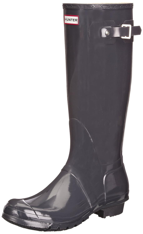 Hunter Original Tall Gloss, Botas de Agua para Mujer35/36 EU|Gris (Graphite)