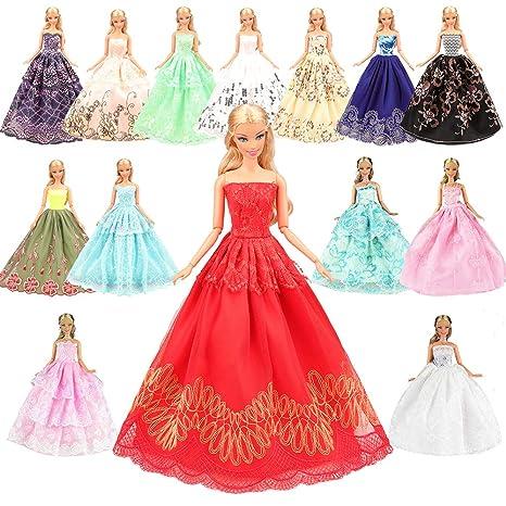 Miunana 5 Pcs Moda Premium Fatto a Mano Morbido Matrimonio Abiti Vestiti Per  La Festa Per 857234c61d7