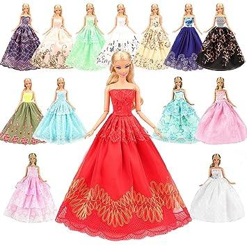 99d94c63a Amazon.es  Miunana 5 Novia Hermoso Vestidos de Noche Hechos a Mano Ropa  Vestir de la Boda Fiesta para Barbie Muñeca Doll Regalo  Juguetes y juegos