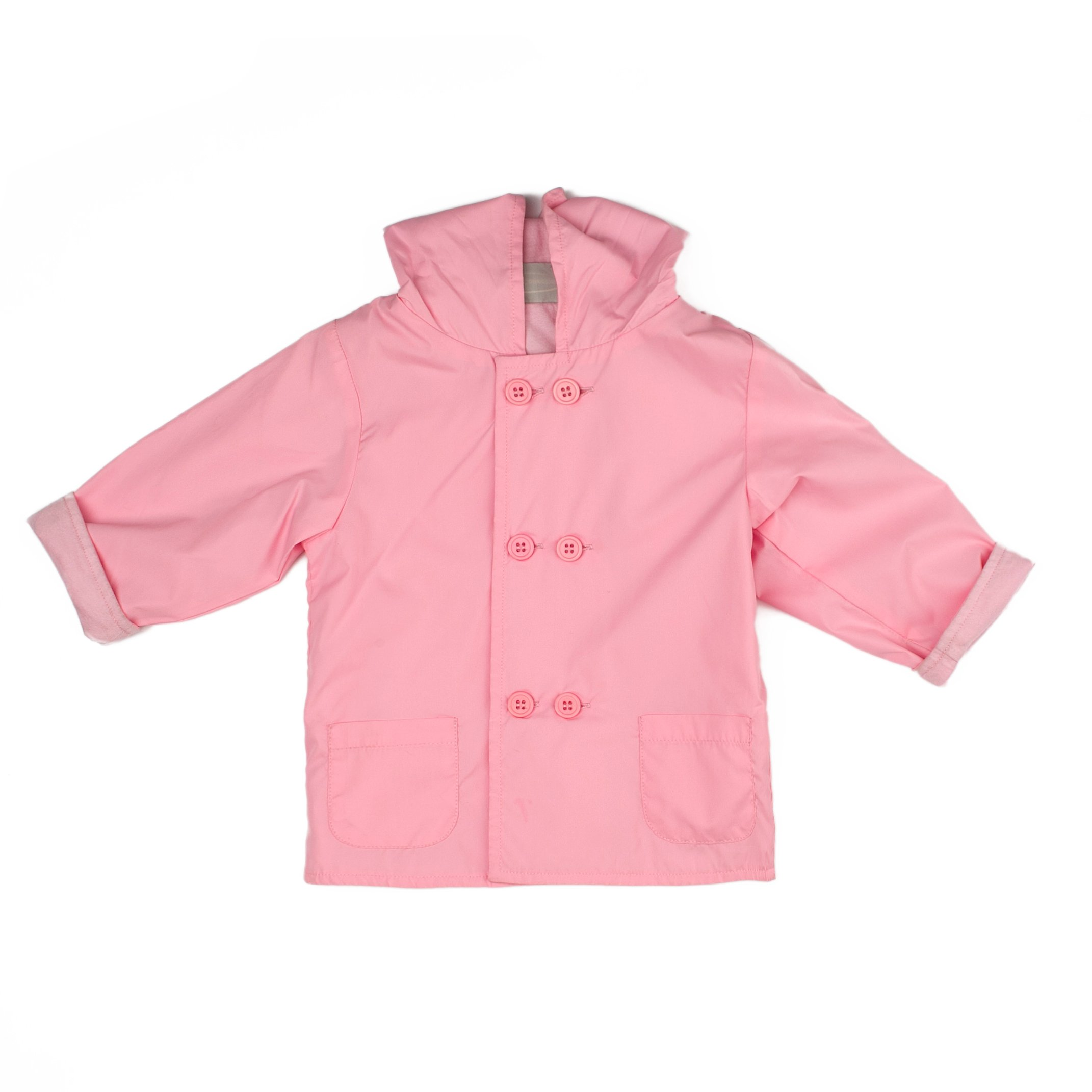 Boutique Collection Pink Hooded Jacket-Raincoat w/Double Buttons & Cotton Lining - Girls and Boys by Boutique Collection
