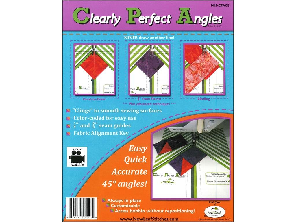 New Leaf Stitches NLSCPA08 Clearly Perfect Angles Sewing Templates