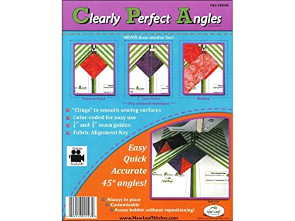 Sewing Templates | Amazon Com New Leaf Stitches Nlscpa08 Clearly Perfect Angles Sewing