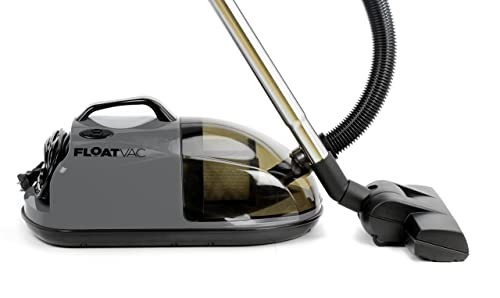 FloatVac bagless Canister Vacuum Floats on Invisible air Cushion, Extremely Lightweight, Powerful Suction – Smoke Grey
