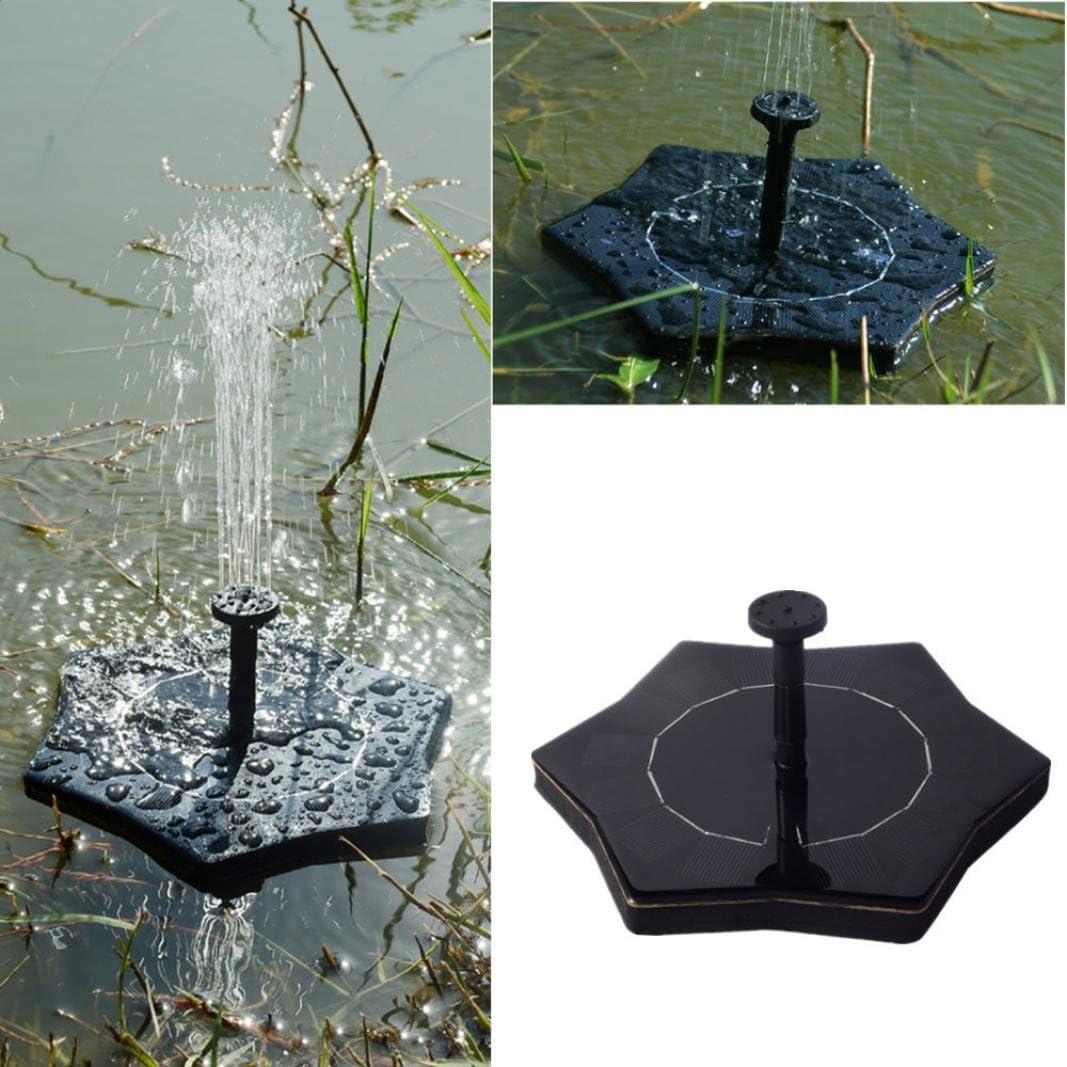 Pool Water Pump IGEMY Solar Power Bird Bath Fountain Water Floating Small Pond Garden Patio Decoration black