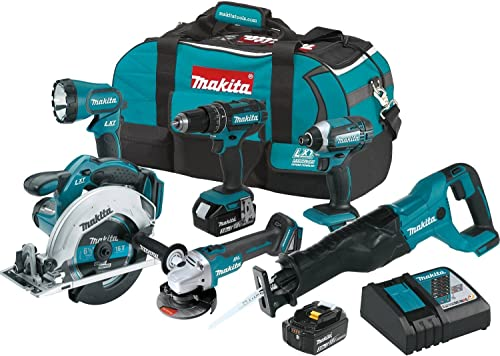 Makita XT610 18V LXT Lithium-Ion Cordless 6-pc. Combo Kit 3.0Ah