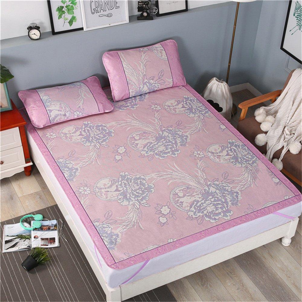 KURRY Foldable Printing Mattress Pad Cooling Sleeping Mat with Two Pillowcase (Blue, 150x200cm) Xinliangxi-013-BL-1.5