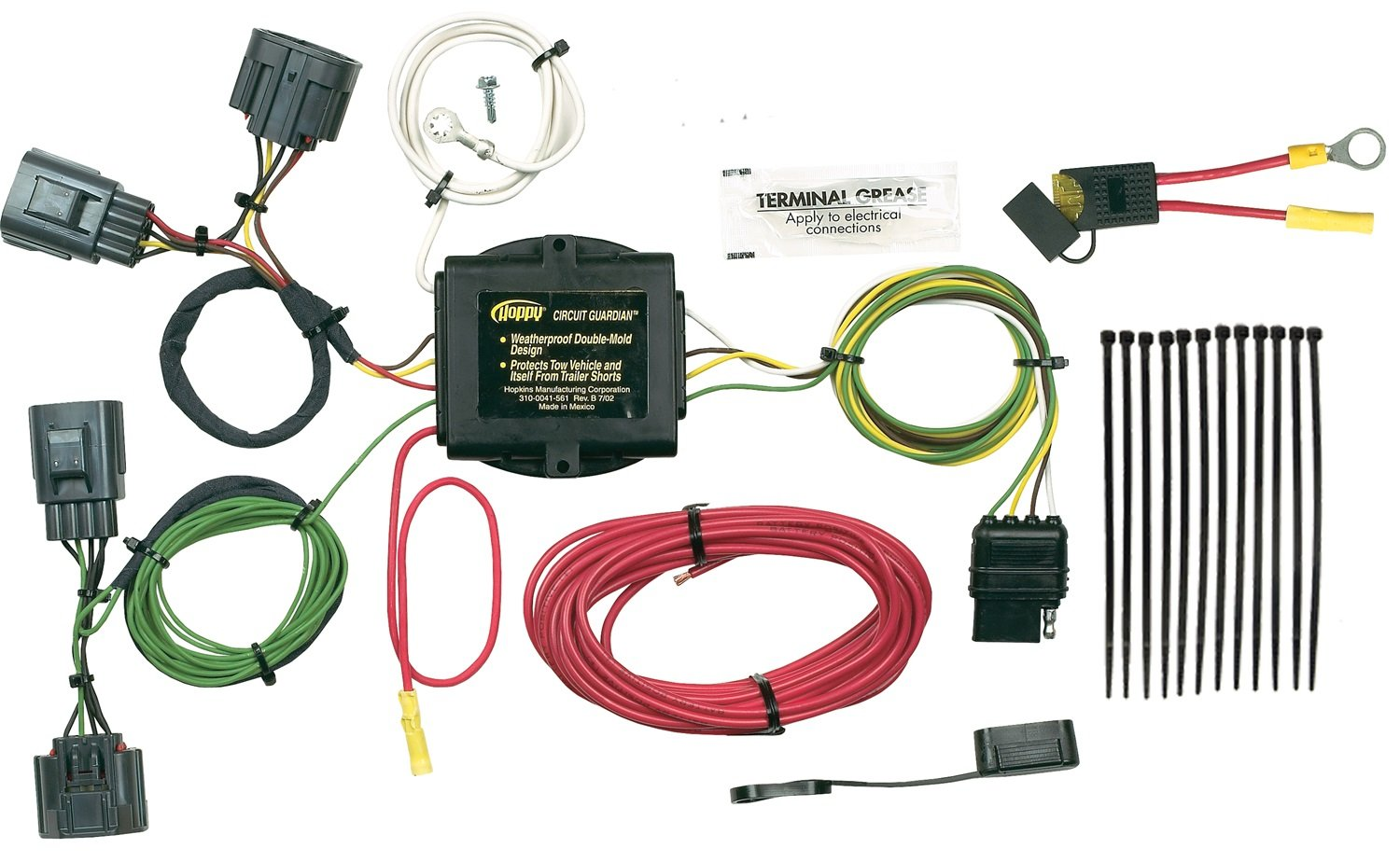 Hopkins 42705 Plug In Simple Vehicle To Trailer Wiring Kit Durable Connector Car And Ends Service
