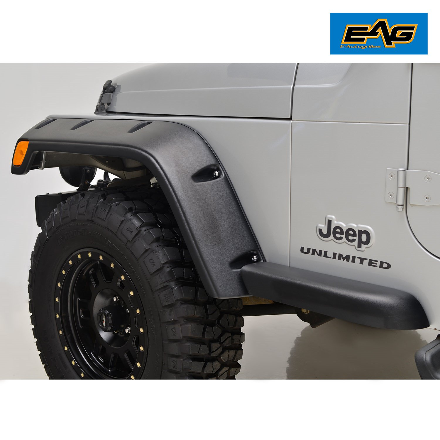 Eag 97 06 Jeep Wrangler Tj Fender Flares With Mounting Bushwackercom 4945 Bushwackerbuilds Jeepwranglerfrontenddiagram Hardware Pocket Style Automotive