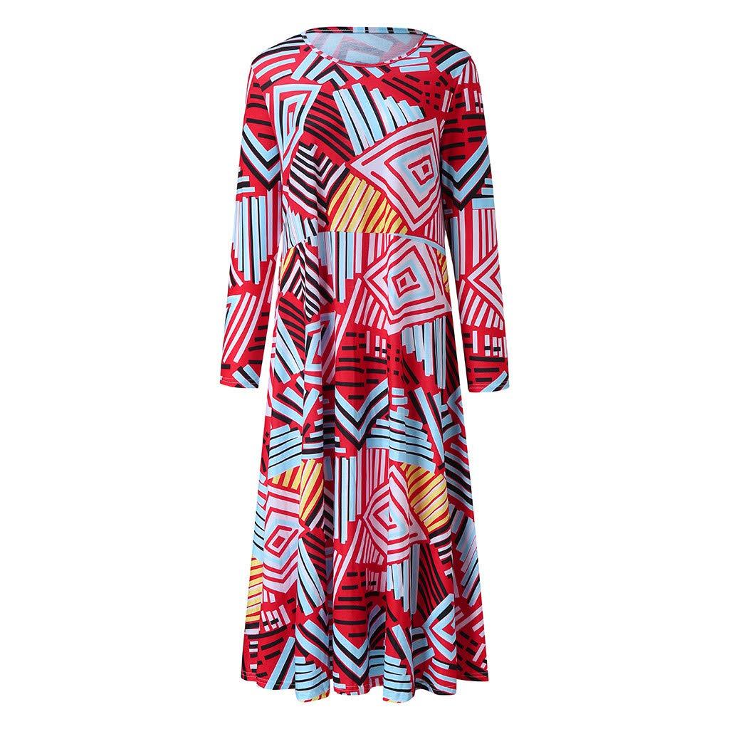 Mini Dress Summer with Sleeve,♔JUSTSELL♔ Women Summer Bohemian Floral T Shirt Dresses A Line Swing Casual Beach Dress