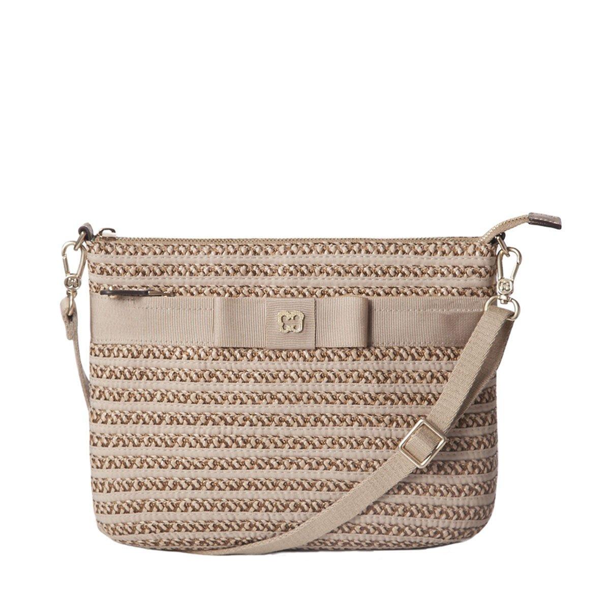 Eric Javits Designer Women's Luxury Handbag Dame Pouch Bark