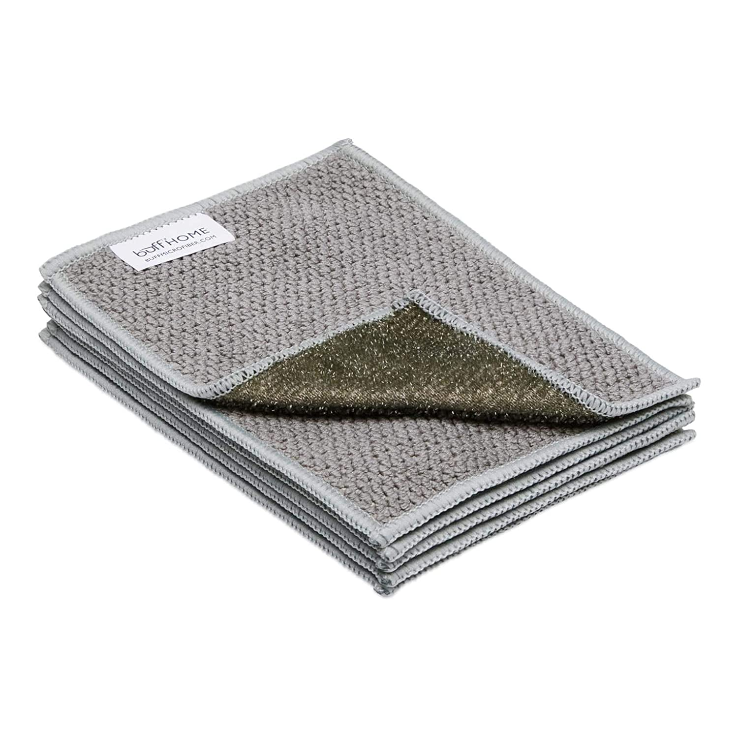 Microfiber Dish Cloths | Scrubs & Cleans: Dishes, Sinks, Counters, Stove Tops | Easy Rinsing | Machine Washable | 6 Pack (size 4 x 6 inches)