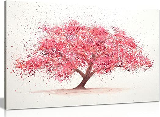 Cherry Tree Blossom Canvas Wall Art Picture Print 36x24in
