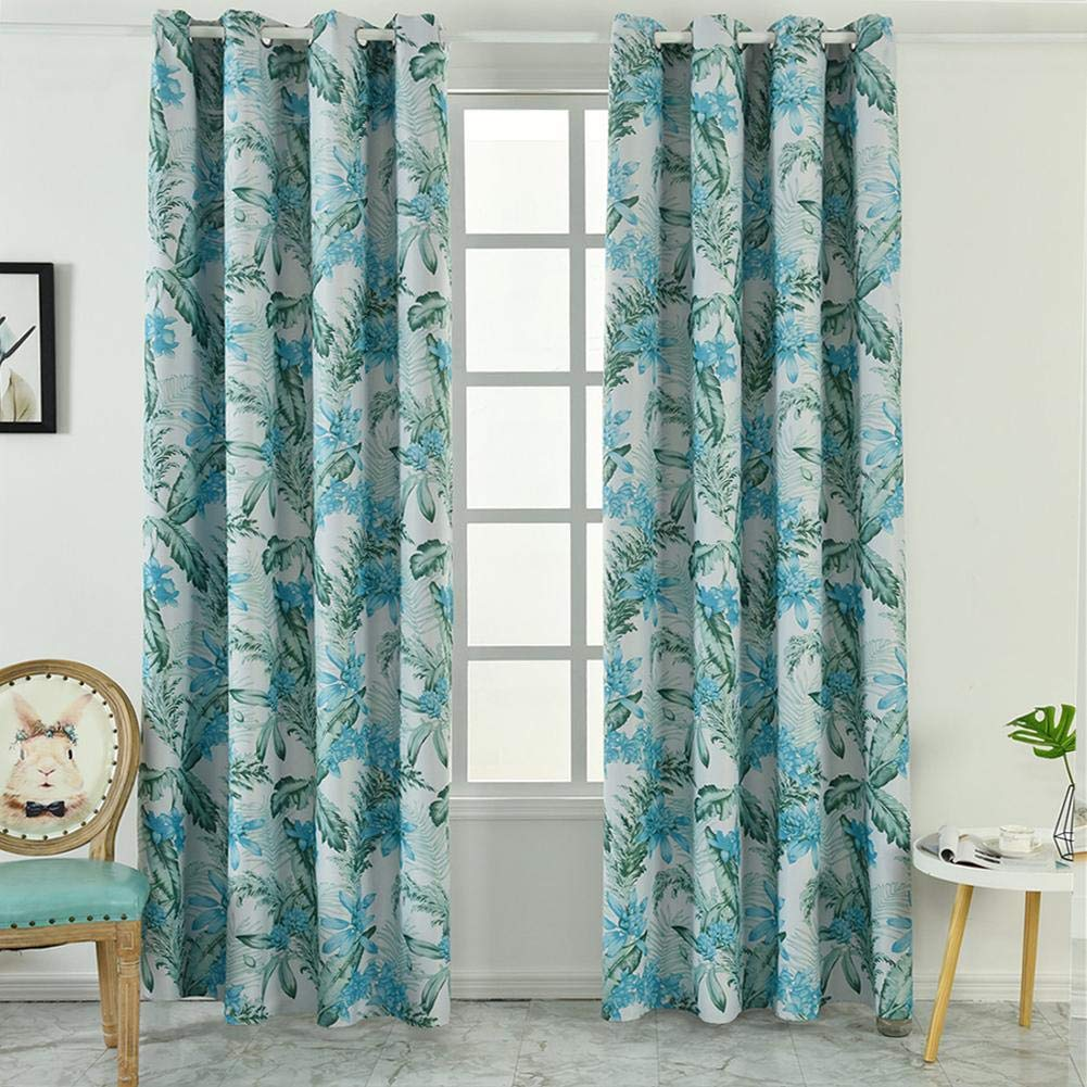 Amazon.com: Diamondo Blackout Curtains Tropical Print Living ...