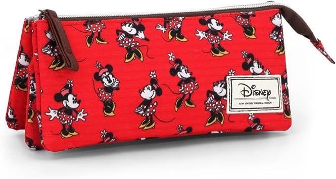 Disney Minnie Mouse Classic Minnie Estuche portatodo Triple, Color Rojo, 24 cm (Karactermanía 33587): Amazon.es: Juguetes y juegos