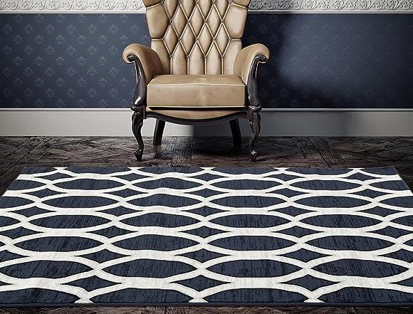 1902 Blue 5 x 7 Area Rug Carpet Large New