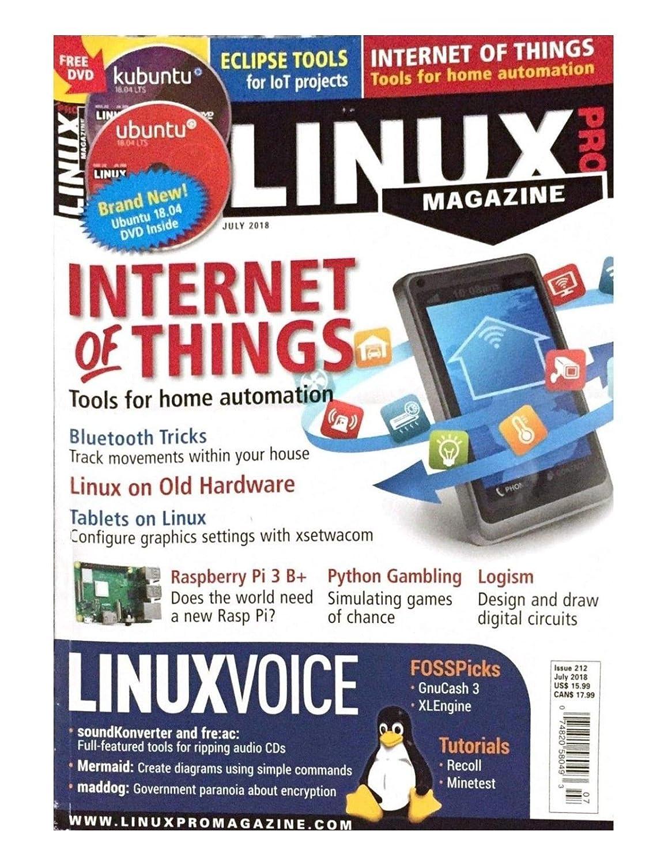Amazon LINUX PRO MAGAZINE INTERNET OF THINGS JULY 2018 ISSUE 212 Everything Else