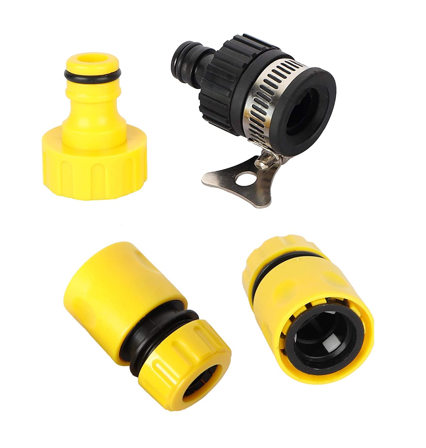 VMTC Tap Connector Set (2 Quick Connector, 1 tap Connector & Adapter) for Gardening & High Pressure Washer Like Karcher, Bosch