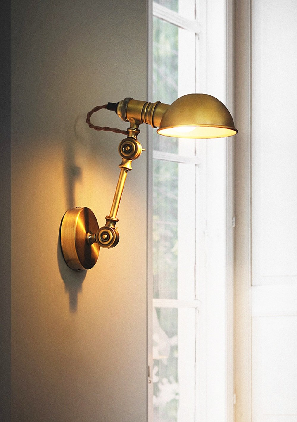 Swing Arm Wall Lamp Adjustable Wall Lamps 1 Light Wall Sconce Industrial Wall Lamp Mounted Lighting Fixture (Color : A) - - Amazon.com