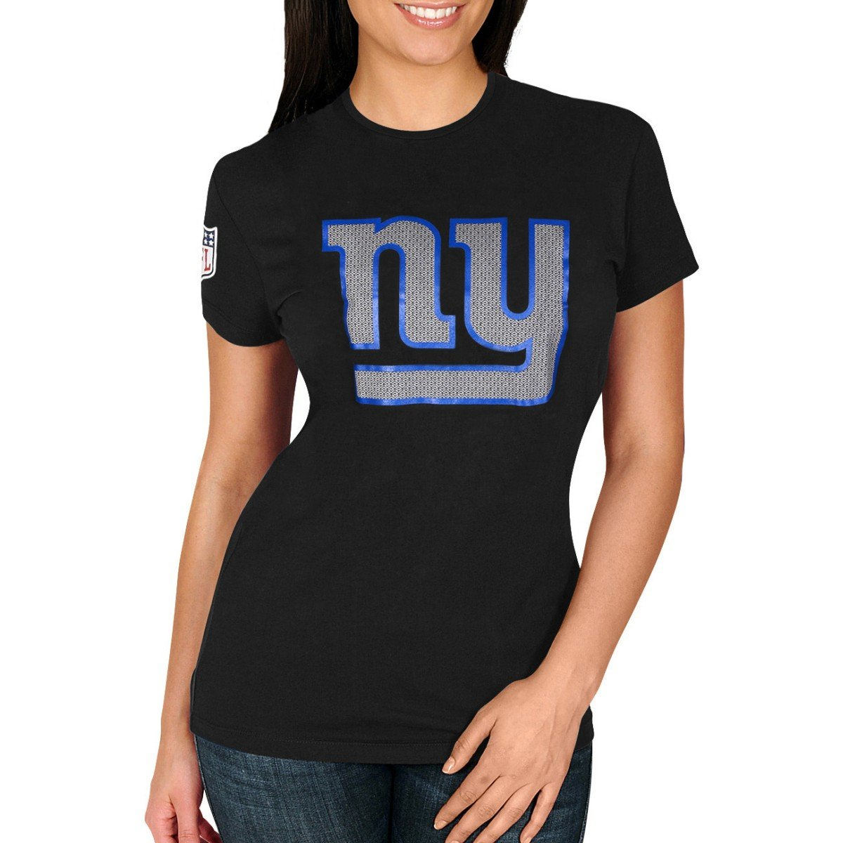 Amazon.com   Majestic Ladies Joel Top York Giants Black   Sports   Outdoors 9a0ffd567